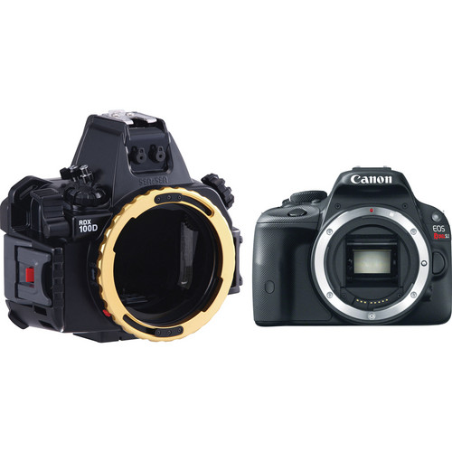 Sea & Sea RDX-100D Underwater Housing with Canon EOS Rebel SL1 DSLR Camera Body Kit