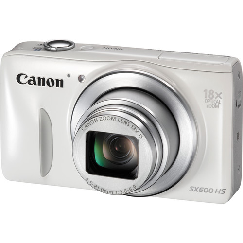 Canon PowerShot SX600 HS Digital Camera (White)