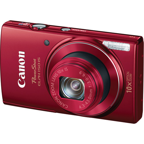 Canon PowerShot ELPH 150 IS Digital Camera (Red)