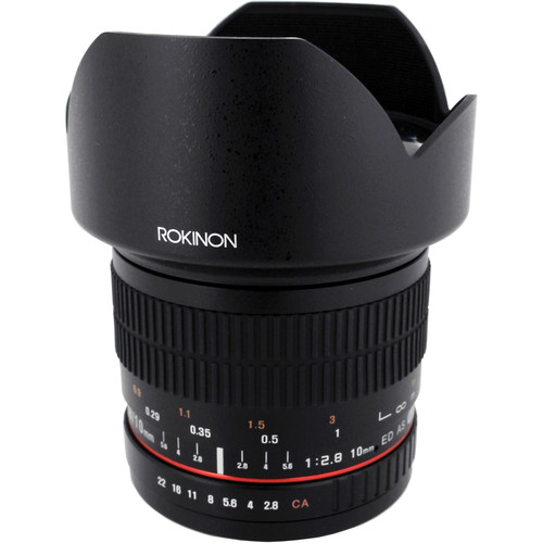 Rokinon 10mm f/2.8 ED AS NCS CS Lens for Canon EF-M Mount