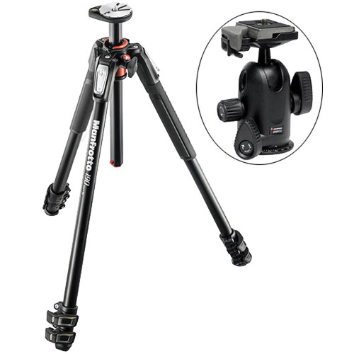 Manfrotto MT190XPRO3 Aluminum Tripod with 498RC2 Midi Ball Head Kit