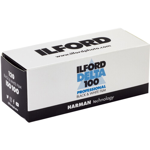 Ilford Delta-100 Professional 120 Black & White Print Film (ISO-100)