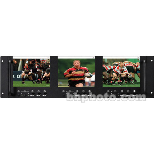 TV One LM-563R Triple 5.6-Inch LCD Monitors, Rack Mountable