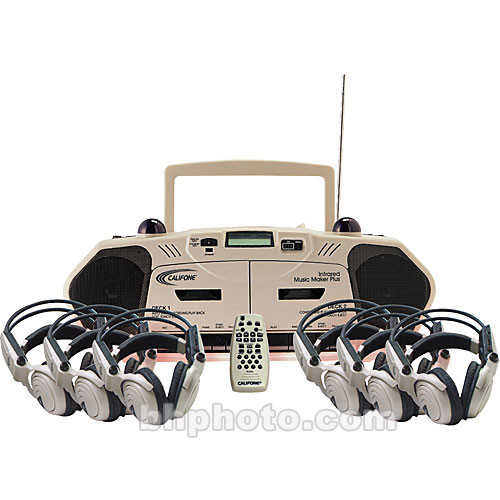 Califone 2395IRPLC-6 6-Person Wireless Cassette Player/Recorder