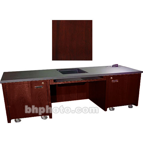 Sound-Craft Systems 2-Bay Custom Presentation Desk (Dark Mahogany)