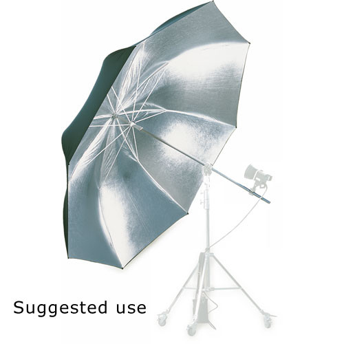 Hensel Jumbo Umbrella, Silver with Black Backing - 80