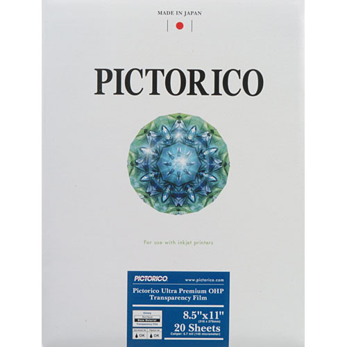 Pictorico Pro Ultra Premium OHP Transparency Film - Letter (8.5 x 11