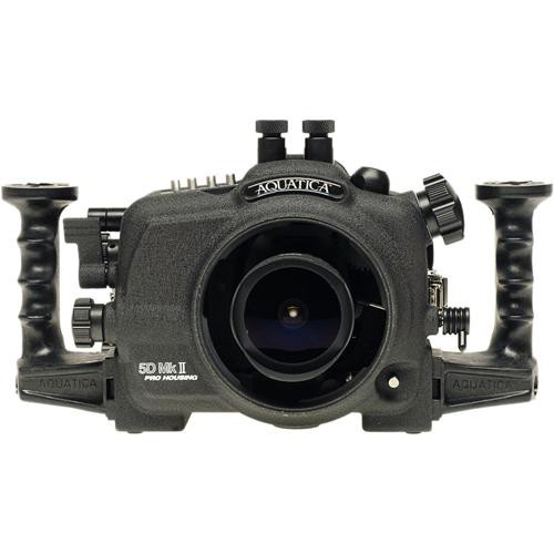 Aquatica Underwater Housing w/ Double Nikonos Bulkheads for Canon 5D Mark II