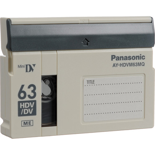 Panasonic AY-HDVM63MQ Mini 63 Minute Master Quality HDV/Pro DV-Compatible Tape