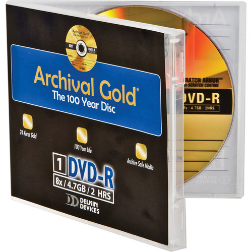 Delkin Devices 4.7GB 8x Archival Gold DVD-R (Jewel Case)