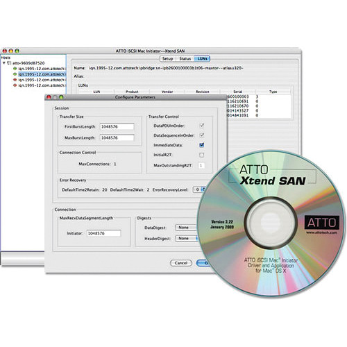 ATTO Technology Xtend SAN iSCSI Initiator Software for Mac OS X - 10-User License