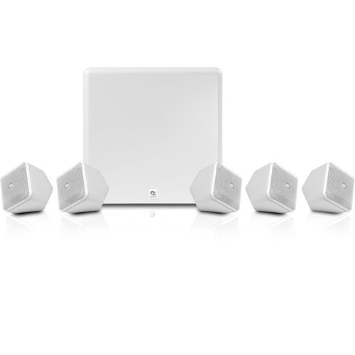 Boston Acoustics SoundWare XS 5.1 Channel Home Theater System (White)