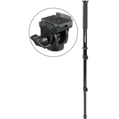 Manfrotto 681B Monopod with 234RC Swivel/Tilt Head - Supports 6 lb (2.7kg)