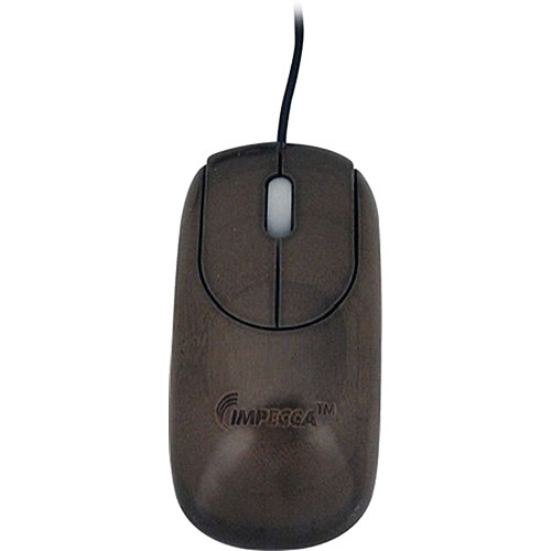Impecca Custom Carved Designer Bamboo Mouse (Walnut)