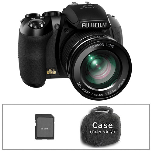 Fujifilm Finepix HS10 Digital Camera with Basic Accessory Kit (Black)