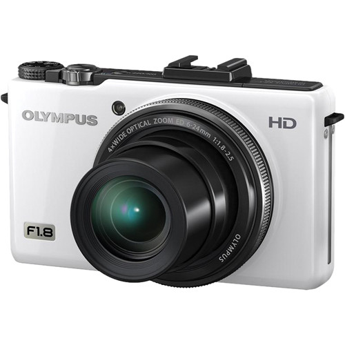 Olympus XZ-1 10MP Digital Camera (White)