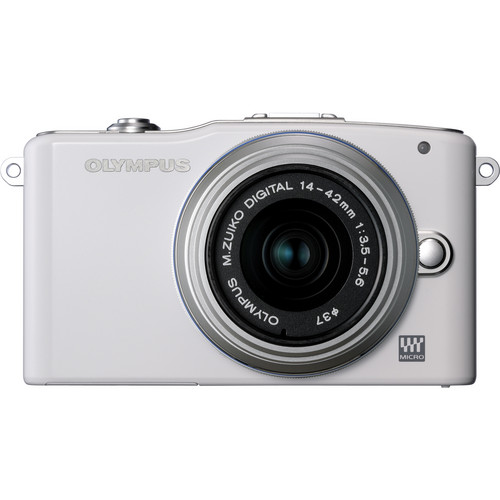 Olympus E-PM1 Mirrorless Micro Four Thirds Digital Camera with 14-42mm II Lens (White)