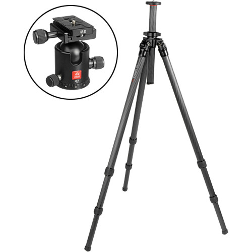 Oben CT-2320 3-Section Carbon Fiber Tripod with BB-2 Ball Head Kit