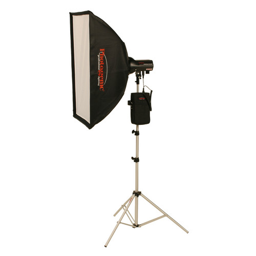 Photogenic AKC50BRK 320W/s Travel Soft Box Kit with Battery and Radio (AC/DC)