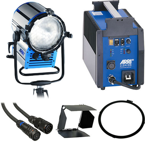 Arri Compact HMI 2500 Watt Fresnel Light Kit (90-250VAC)