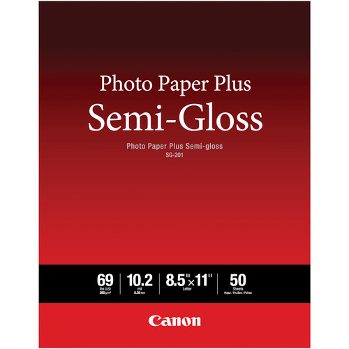 Canon SG-201 Photo Paper Plus Semi-Gloss (8.5 x 11