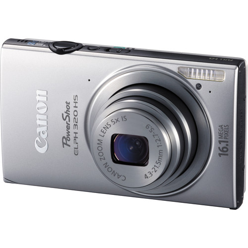 Canon PowerShot ELPH 320 HS Digital Camera (Silver)