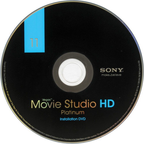 Sony Vegas Movie Studio HD Platinum 11 Slip Sleeve Package