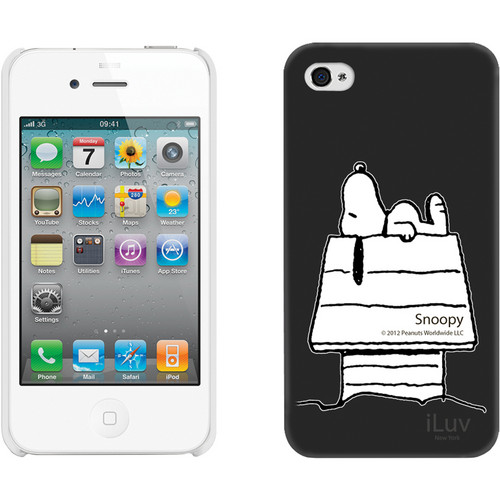 iLuv Snoopy Character Series - Hardshell Case for iPhone 4S / 4 (Black)