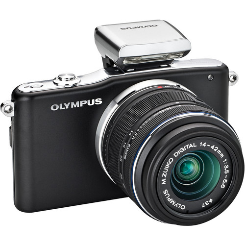 Olympus E-PM1 Mirrorless Micro Four Thirds Digital Camera with 14-42mm II Lens (Black)