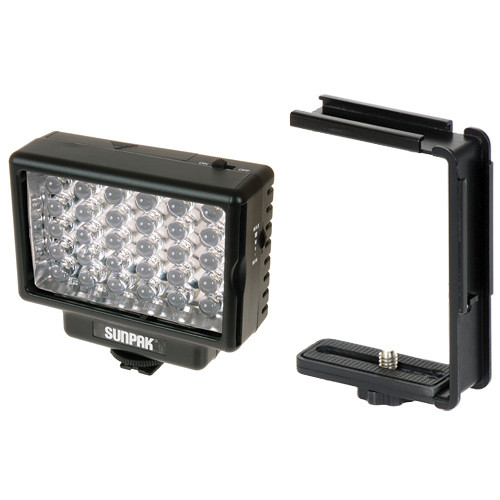 Sunpak LED 30 Video Light & Compact Video Bracket Kit