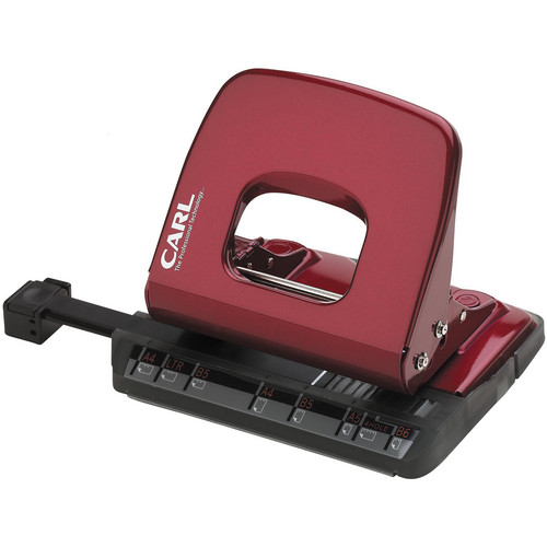 Carl ALYSIS 2-Hole, 18 Sheet Paper Punch (Red)