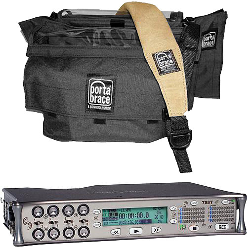 Sound Devices Sound Devices 788T-SSD 8-Track Recorder + Porta Brace AR-788B Case Kit