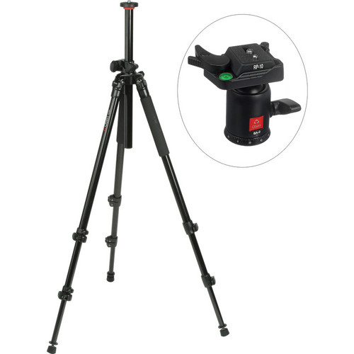 Oben AC-2310LA 3-Section Aluminum Lateral Tripod With BA-0 Ball Head Kit