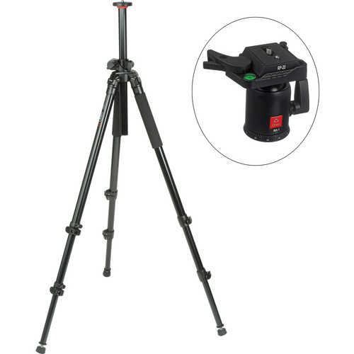 Oben AC-2320LA 3-Section Aluminum Lateral Tripod With BA-1 Ball Head Kit
