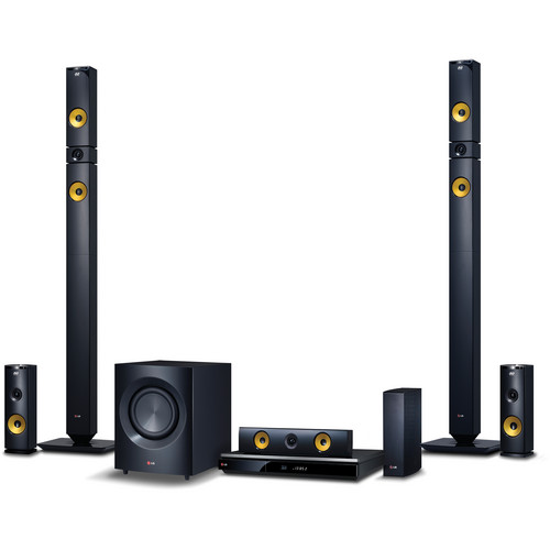 LG BH9430PW 3D-Capable 9.1-Channel Blu-ray Disc Home Theater System with Smart TV (Yellow Accents)