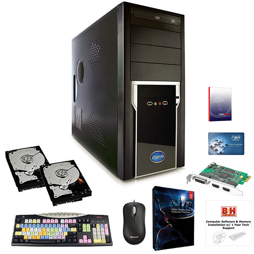 B&H Photo PC Pro Workstation Rain Stratus-Based Entry Level CS6 Production Premium & I/O Card Turnkey
