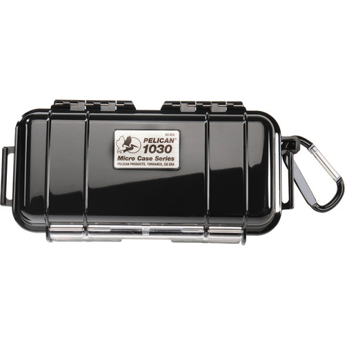 Pelican 1030 Micro Case (Solid Black with Black Lining)