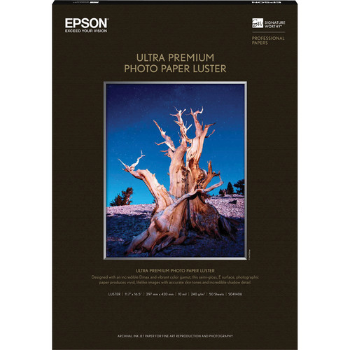 Epson Ultra Premium Luster Photo Paper (A3, 11.7 x 16.5