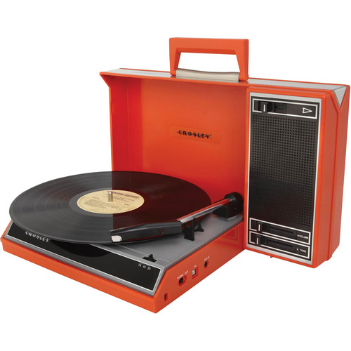 Crosley Radio CR6016A Spinnerette Portable USB Turntable (Red)