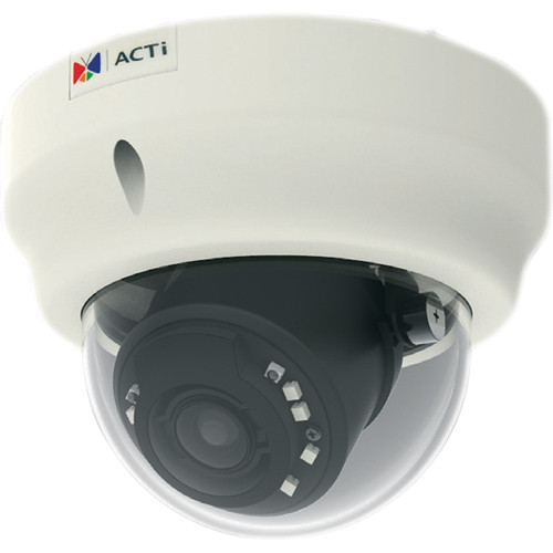ACTi B84 1.3 Mp Basic WDR Day & Night Outdoor IR Dome PoE Camera with 3x Zoom Lens