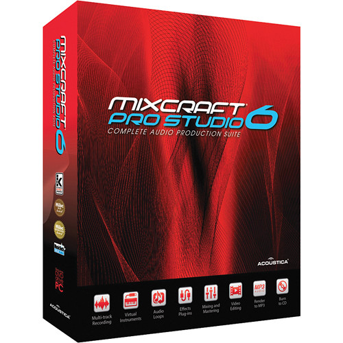 Acoustica Mixcraft Pro Studio 6 - Multi-Track Recording Software (Educational Discount - Single)