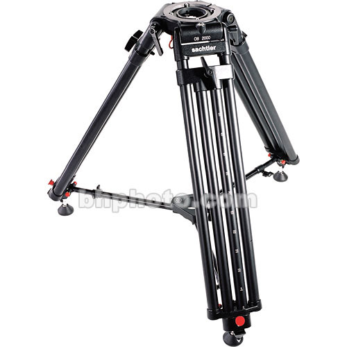 Sachtler OB-2000 Aluminum Tripod Legs (Flat Base and Mitchell) with Mid-Level Spreader