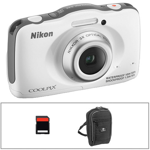 Nikon COOLPIX S32 Digital Camera Basic Kit (White)