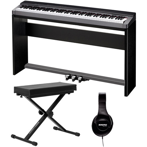 Casio PX-150 88-Key Piano Home Studio Bundle (Black)