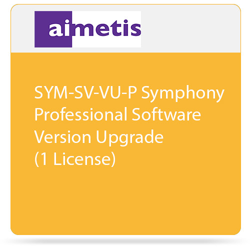 aimetis SYM-SV-VU-P Symphony Professional Software Version Upgrade (1 License)