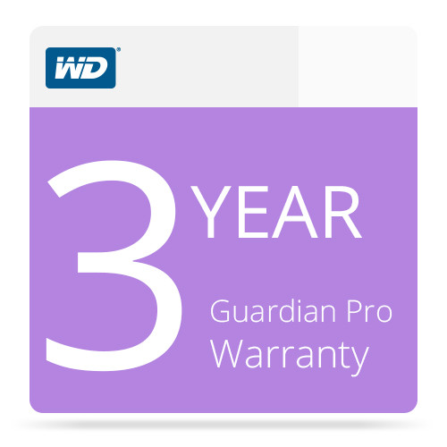 WD Guardian Pro Warranty for Sentinel DX4000 (3 Year)