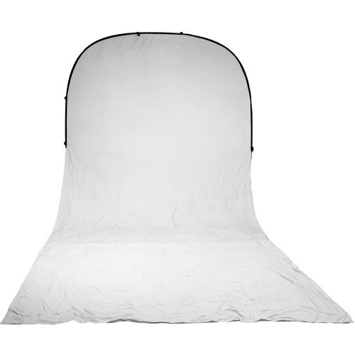 Impact Super Collapsible Background - 8 x 16' (White)