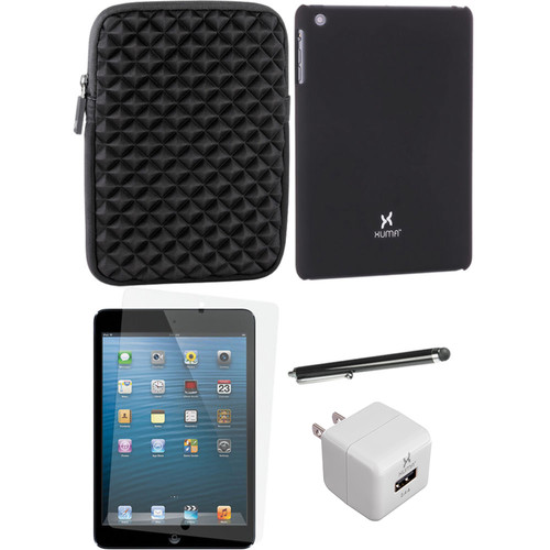 Xuma Snap-on Case for iPad mini with Accessories Kit (Black)