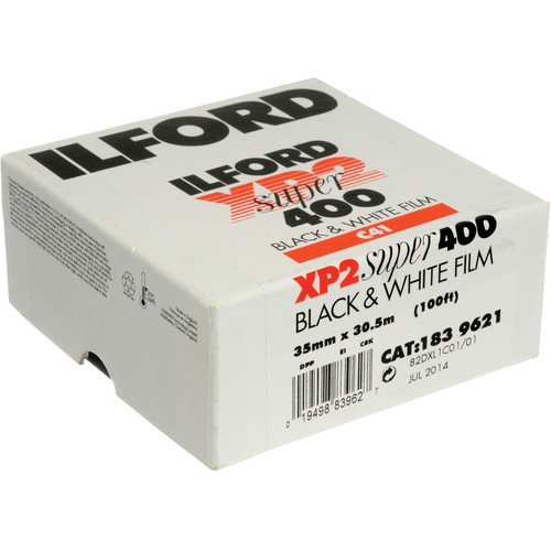 Ilford XP-2 Super 35mm 100' Roll B&W (Chromogenic) Print Film (ISO-400)