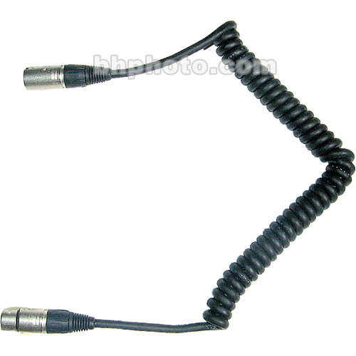 Frezzi CC-44 Coiled 4-pin XLR Male to 4-pin XLR Female Power Cable
